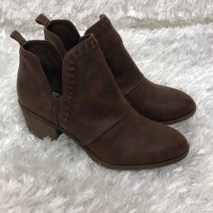 Rock & Candy Brown Rustic Ankle Boots Sz 7 EUC